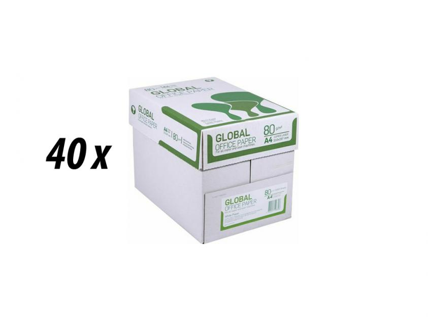 Χαρτί Global A4 80g 40 Boxes (GLOBAL40BOXA4)