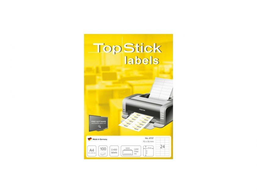 Αυτοκόλλητες Ετικέτες TopStick 70x35mm 100-Sheets (8737)
