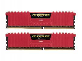 Μνήμη RAM Corsair Vengeance LPX 16GB DDR4 3200MHz CL16 Red Kit (CMK16GX4M2B3200C16R)