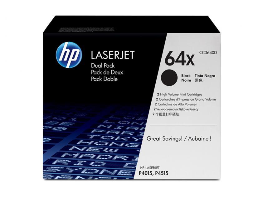Toner HP 64X 2-Pack Black 48000Pgs (CC364XD)