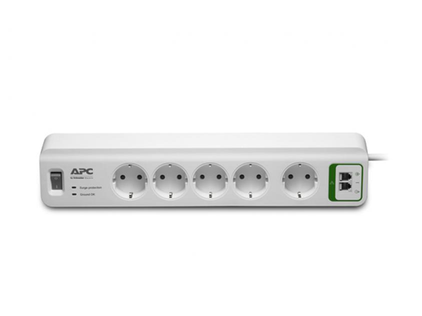 Πολύπριζο APC Essential SurgeArrest 5-Outlets with Phone Protection (PM5T-GR)