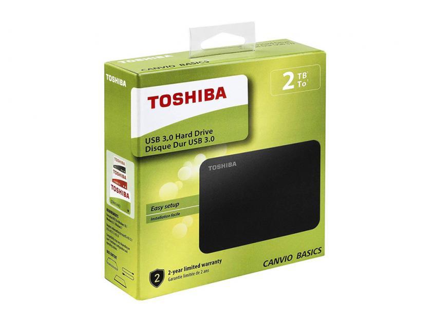 Εξωτερικός Σκληρός Δίσκος HDD Toshiba Canvio Basics 2018 2TB USB 3.0 (HDTB420EK3AA)
