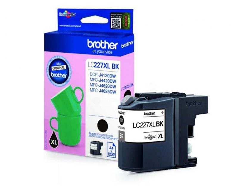 Μελάνι Brother Inkjet LC-227XL Black 1200Pgs (LC-227XLBK)