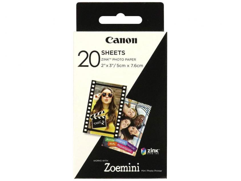 Φωτογραφικό Χαρτί Canon Zink Paper 20 sheets for Zoemini (3214C002AA)