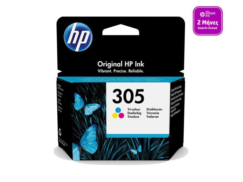 Μελάνι HP 305 Tri-Color 100Pgs (3YM60AE)