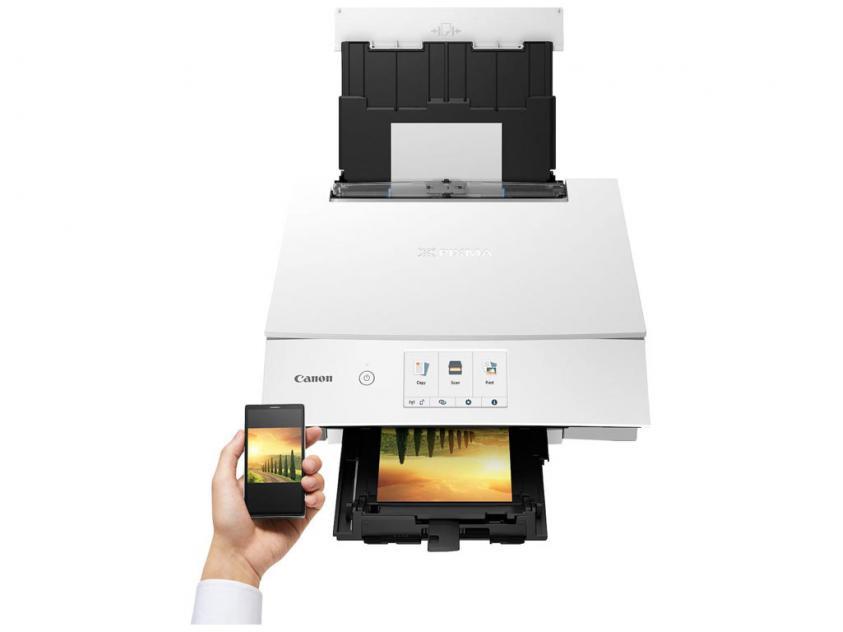 Πολυμηχάνημα Canon Color Inkjet Pixma TS8351 White (3775C026AA)