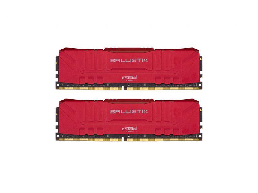 Μνήμη Crucial Ballistix (Red) DDR4 3200MHz 32GB RGB Kit (2 x 16GB) (BL2K16G32C16U4R)