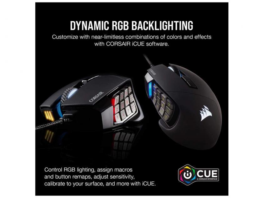 Gaming Mouse Corsair Scimitar Elite RGB MOBA Black (CH-9304211-EU)
