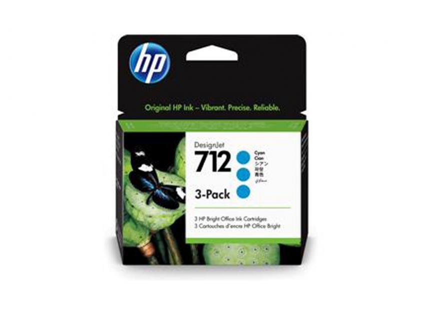Μελάνι HP 712 Cyan 3-pack 29ml (3ED77A)