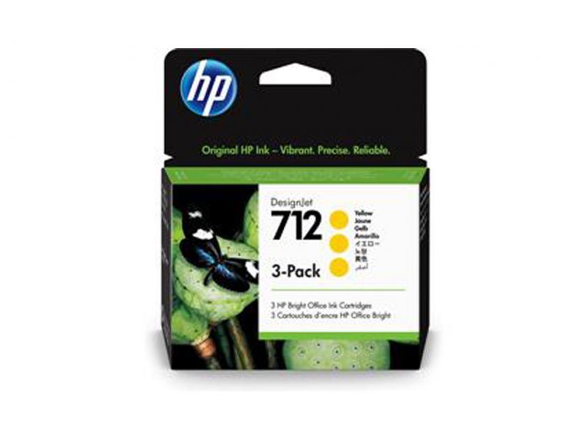 Μελάνι HP 712 Yellow 3-pack 29ml (3ED79A)