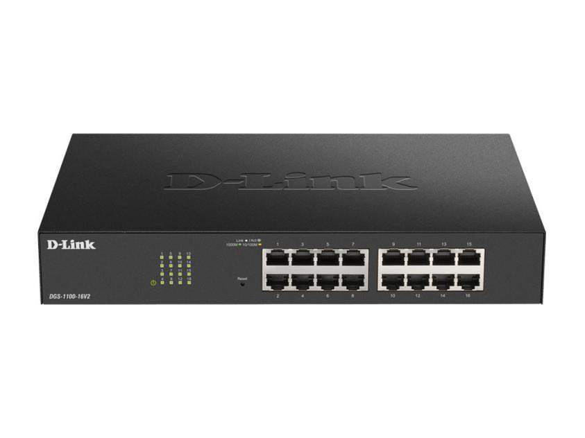 Switch D-Link DGS-1100-16V2 16-Port 10/100/1000 Mbps (DGS-1100-16V2)