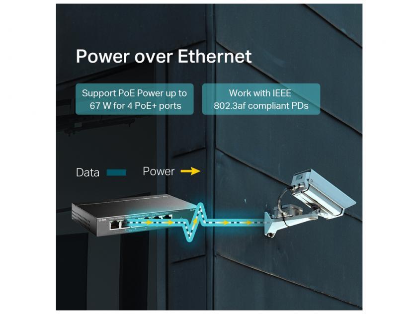 Switch TP-Link TL-SF1006P 6-Port 10/100Mbps + 4-Port PoE+ v1 (TL-SF1006P)