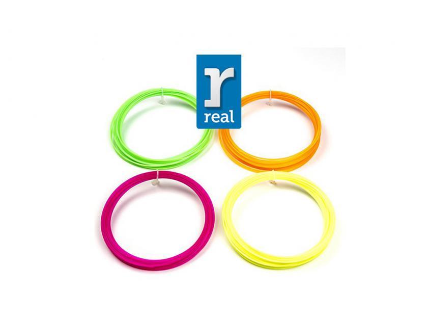 3D Printer Filament Real PLA Pen Fluorescent package (4 pcs/10m/1.75mm) (3DPFPLAFLUORPACKAGE10)