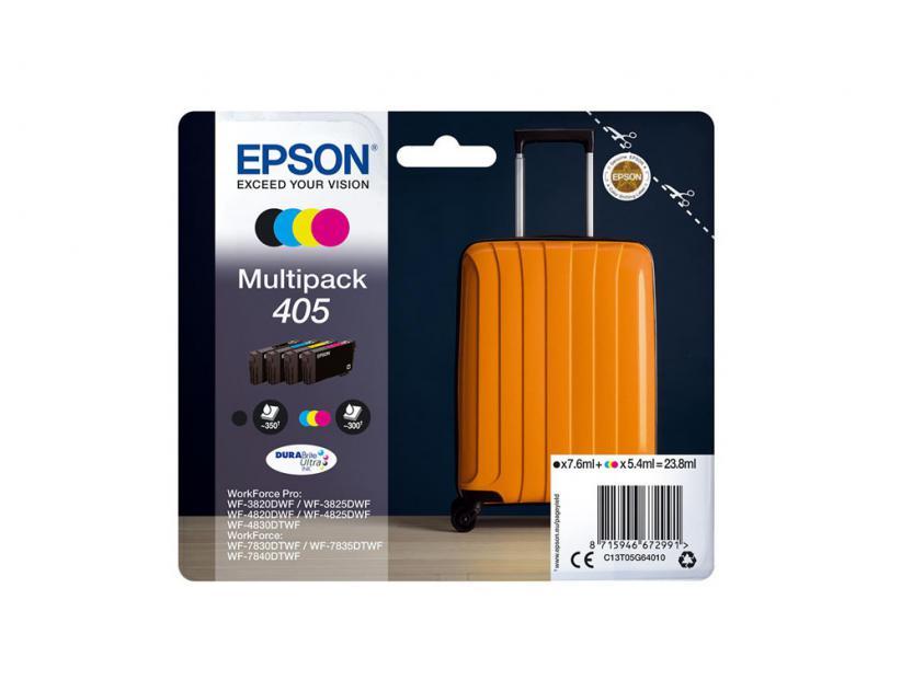 Μελάνι Epson 405 4-Pack Black/Cyan/Magenta/Yellow 7.6ml (C13T05G64010)