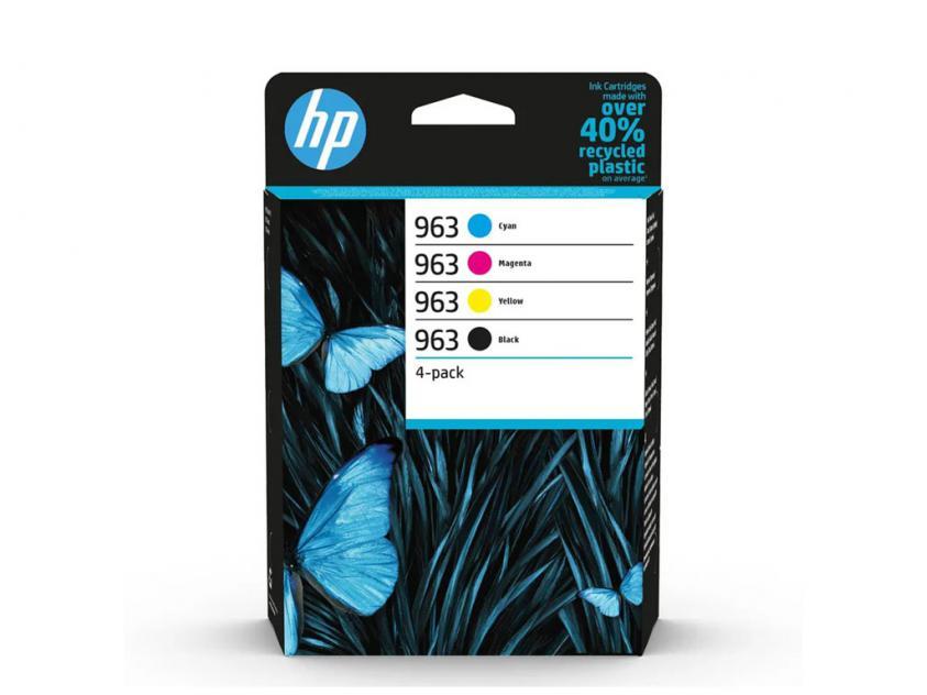 Μελάνι HP 963 4-Pack Black/Cyan/Magenta/Yellow 1000Pgs/3x700Pgs (6ZC70AE)