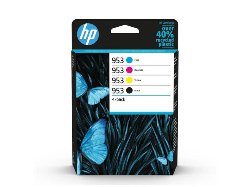 Μελάνι HP 953 4-Pack Black/Cyan/Magenta/Yellow 1000Pgs/3x700Pgs (6ZC69AE)