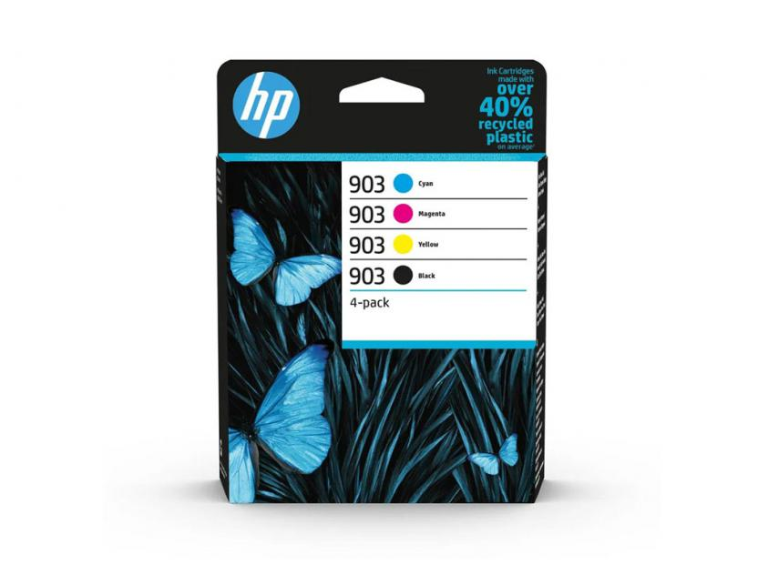 Μελάνι HP 903 4-Pack Black/Cyan/Magenta/Yellow 300Pgs/3x315Pgs (6ZC73AE)