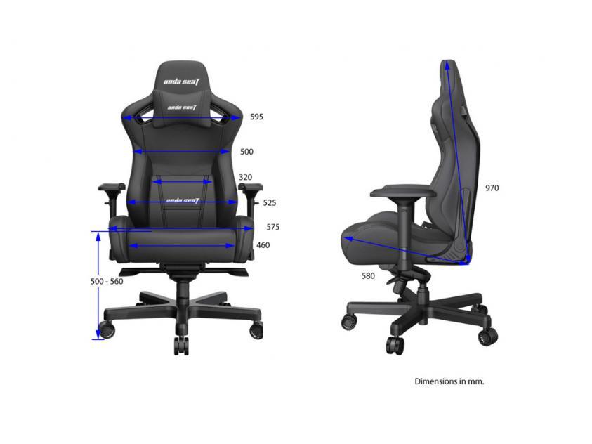 Gaming Καρέκλα Anda Seat AD12XL Kaiser-II Black (AD12XL-07-B-PV-B01)