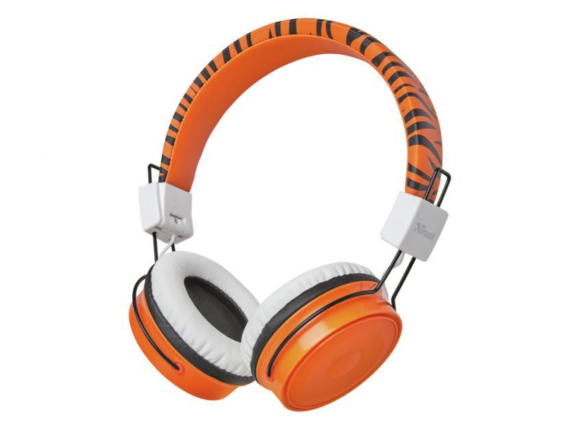 Ακουστικά Trust Comi Bluetooth Wireless Kids Orange (23583)