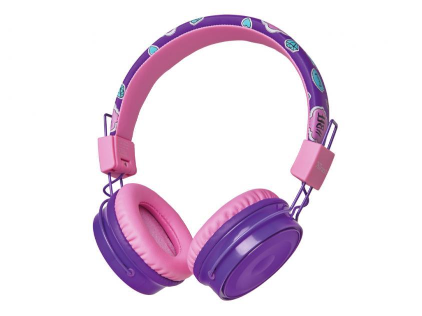 Ακουστικά Trust Comi Bluetooth Wireless Kids Purple (23608)