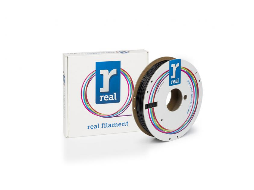 3D Printer Filament Real PETG 1.75mm Spool of 0.5Kg Black (NLPETGSBLACK500MM175)