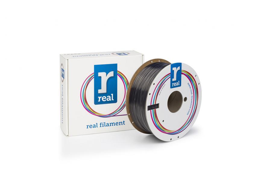 3D Printer Filament Real PETG 1.75mm Spool of 1Kg Smoky Black (NLPETGSMOKYBLACK1000MM175)