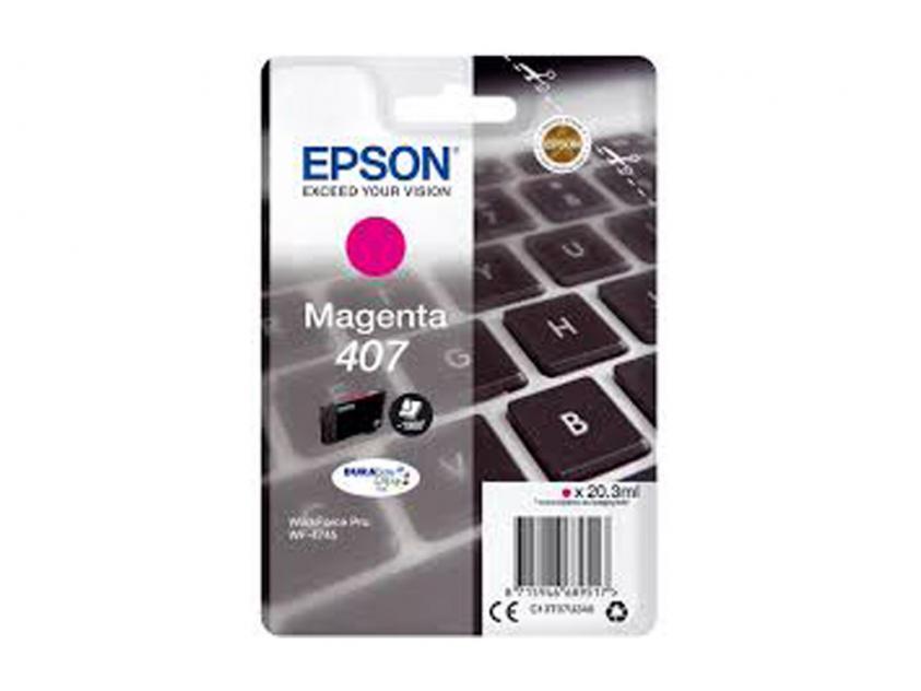 Μελάνι Epson 407 Magenta 1900Pgs (C13T07U340)