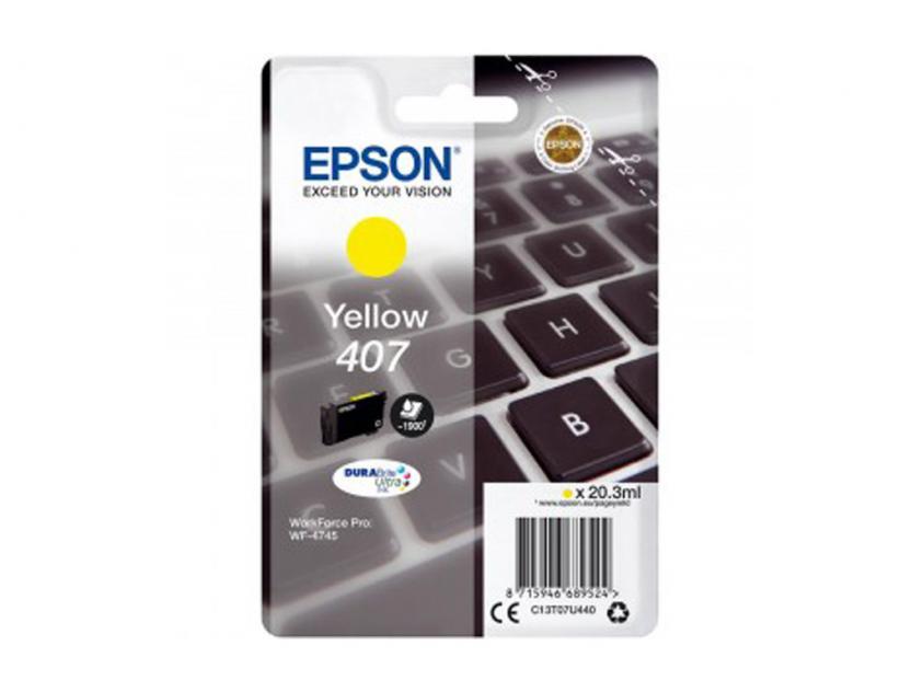 Μελάνι Epson 407 Yellow 1900Pgs (C13T07U440)