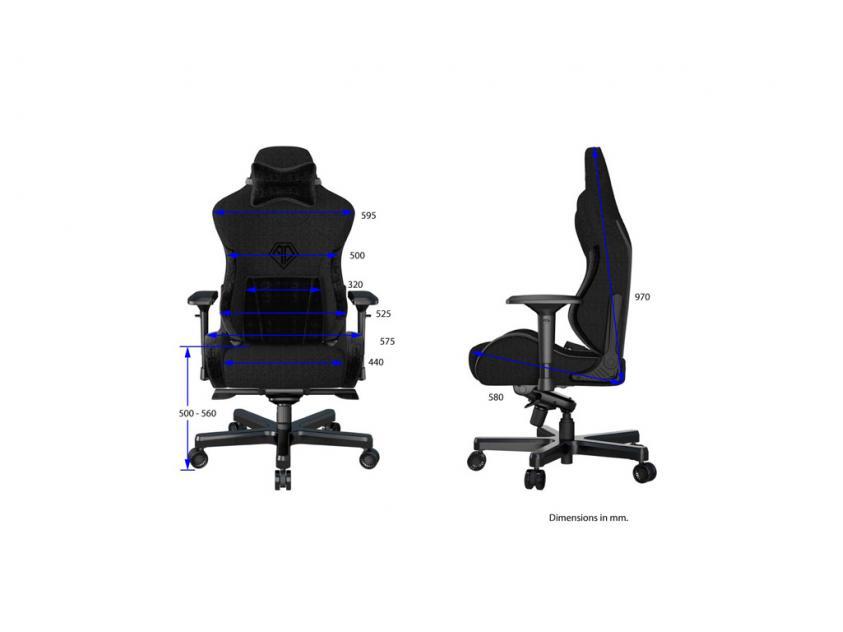 Gaming Chair Anda T-Pro II Black (AD12XLLA-01-B-F)