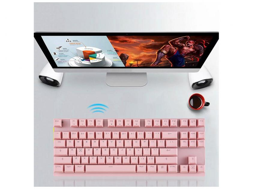 Gaming Mechanical Keyboard Motospeed GK82 Pink Red Switches GR Layout (MT00145)