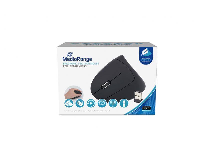 Ποντίκι MediaRange Ergonomic 6-button Wireless Optical for left-handers (MROS233)