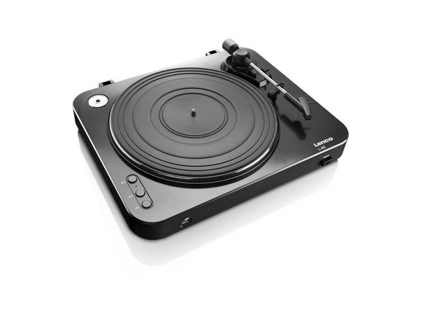 Πικάπ Lenco Turntable L-85 Black (LEN-L85BLA)