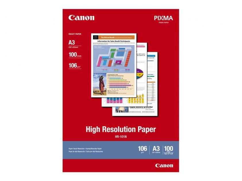 Φωτογραφικό Χαρτί Canon High Resolution A3 106g/m² 100-Sheets (1033A005)