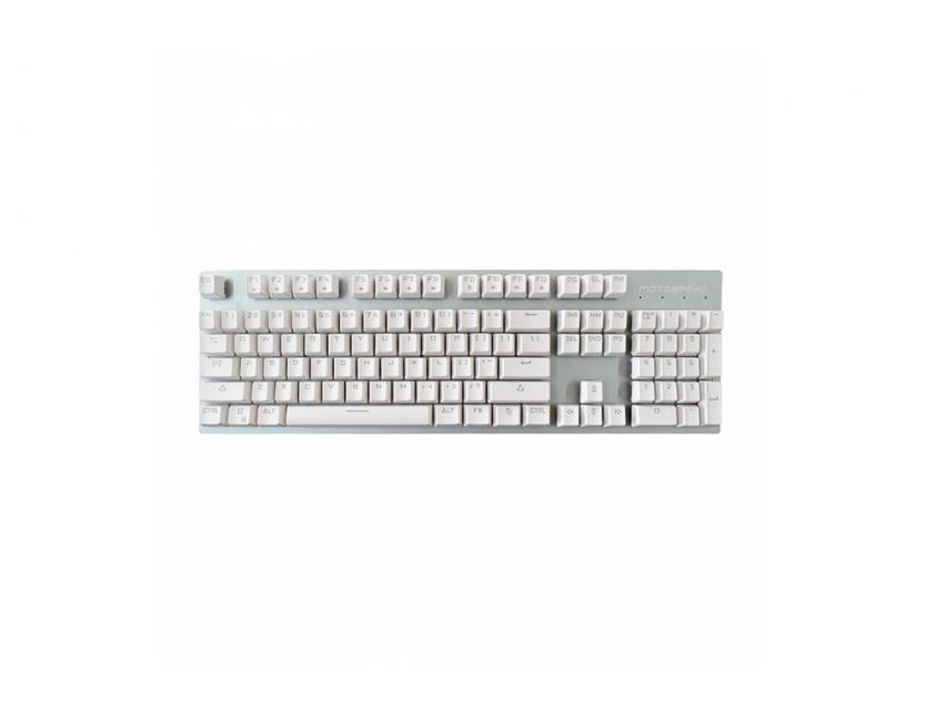 Gaming Mechanical Keyboard Motospeed GK89 White Wireless Ice Blue Backlit Brown Switch GR Layout (MT00149)