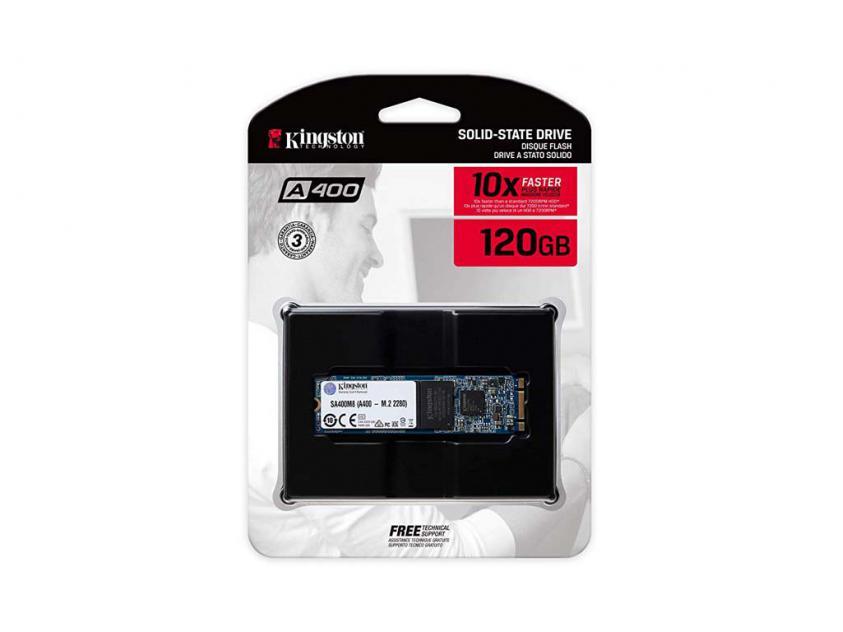 Εσωτερικός Σκληρός Δίσκος SSD Kingston SA400 120GB M.2 (SA400M8/120G)