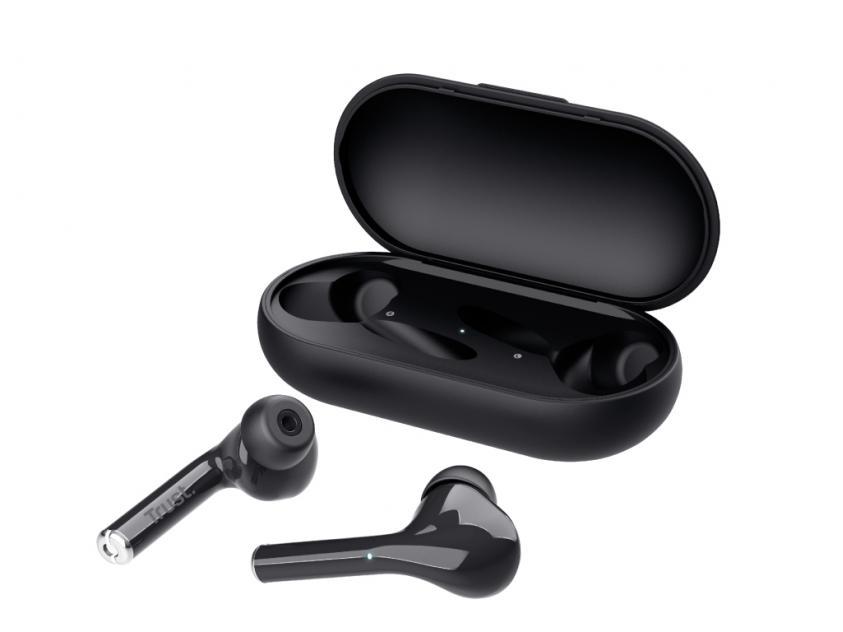 Ακουστικά Handsfree Trust Nika Touch Black (23554)