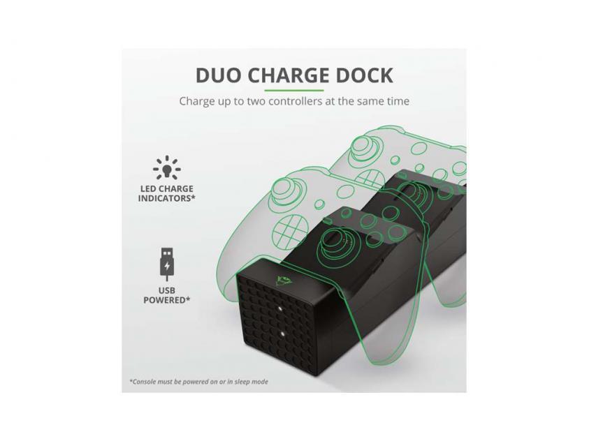 Φορτιστής Dock Trust GXT 250 Duo For XBOX (24177)