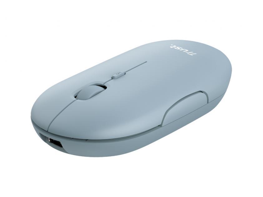 Ποντίκι Trust Puck Blue (24126)