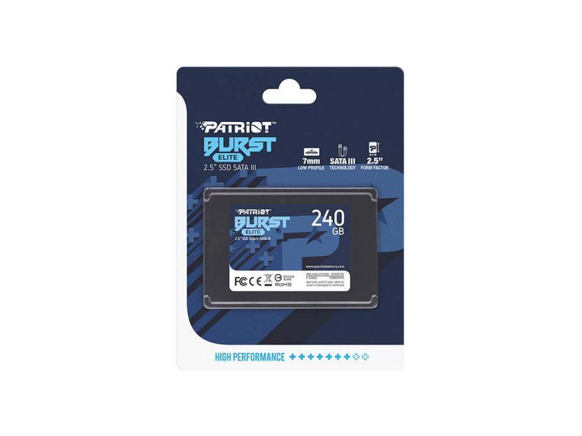 Εσωτερικός Σκληρός Δίσκος SSD Patriot Burst Elite 240GB 2.5-inch (PBE240GS25SSDR)