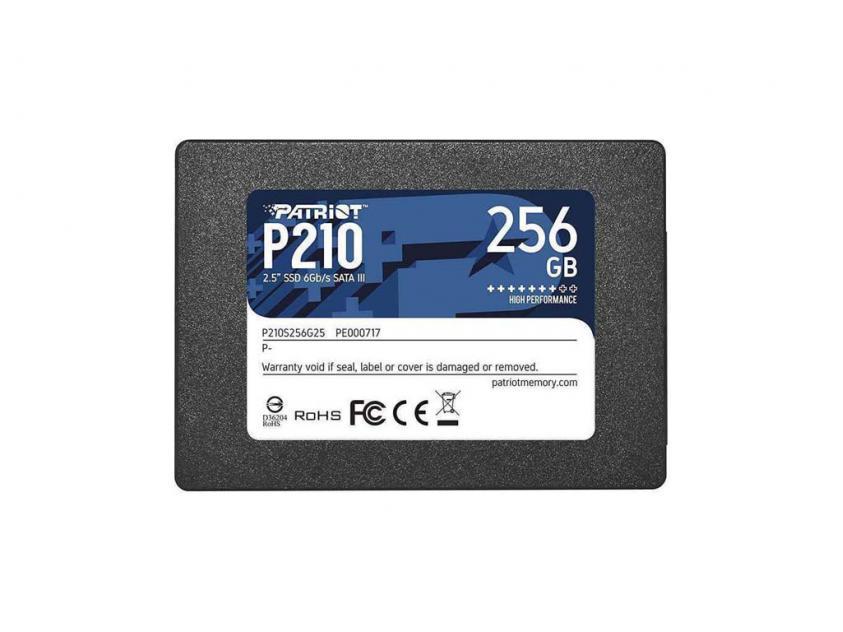 Εσωτερικός Σκληρός Δίσκος SSD Patriot P210 256GB 2.5-inch (P210S256G25)