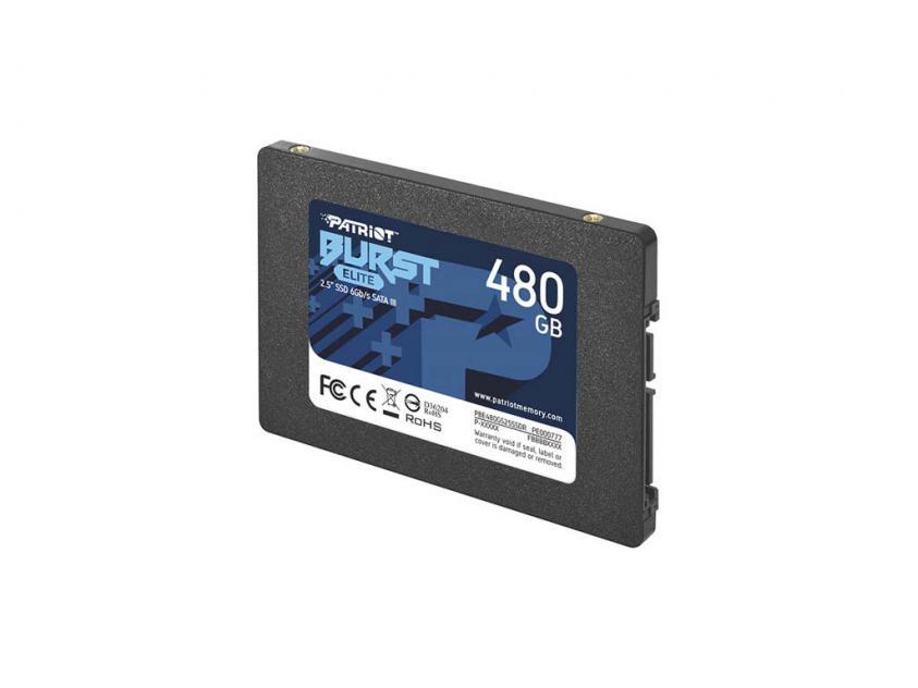 Εσωτερικός Σκληρός Δίσκος SSD Patriot Burst Elite 480GB 2.5-inch (PBE480GS25SSDR)