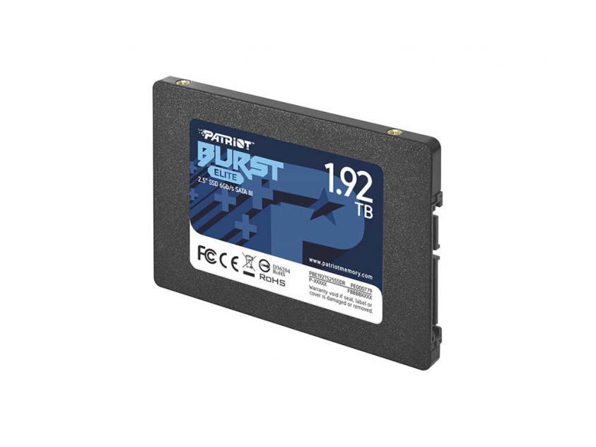 Εσωτερικός Σκληρός Δίσκος SSD Patriot Burst Elite 1.92TB 2.5-inch (PBE192TS25SSDR)