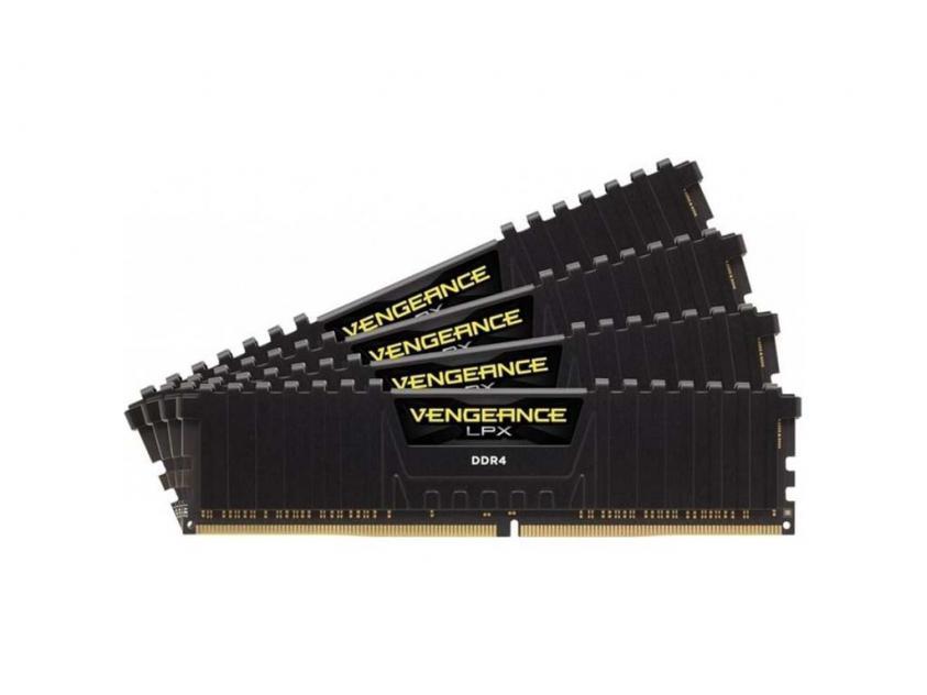 Μνήμη RAM Vengeance Black LPX 32GB (4X8GB) DDR4 3200MHz C16 (CMK32GX4M4B3200C16)