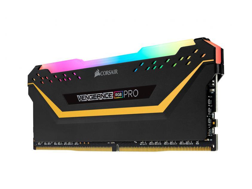 Μνήμη RAM Vengeance Black RGB Pro 32GB (2X16GB) DDR4 3600MHz C18 (CMW32GX4M2E3200C16-TUF)