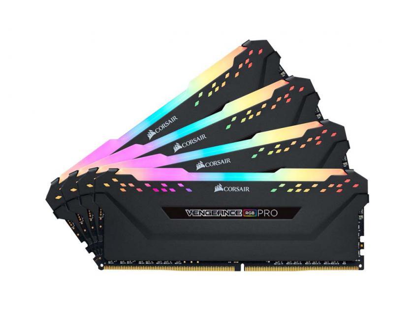 Μνήμη RAM Vengeance RGB Pro 32GB (4X8GB) DDR4 2666MHz C16 (CMW32GX4M4A2666C16)