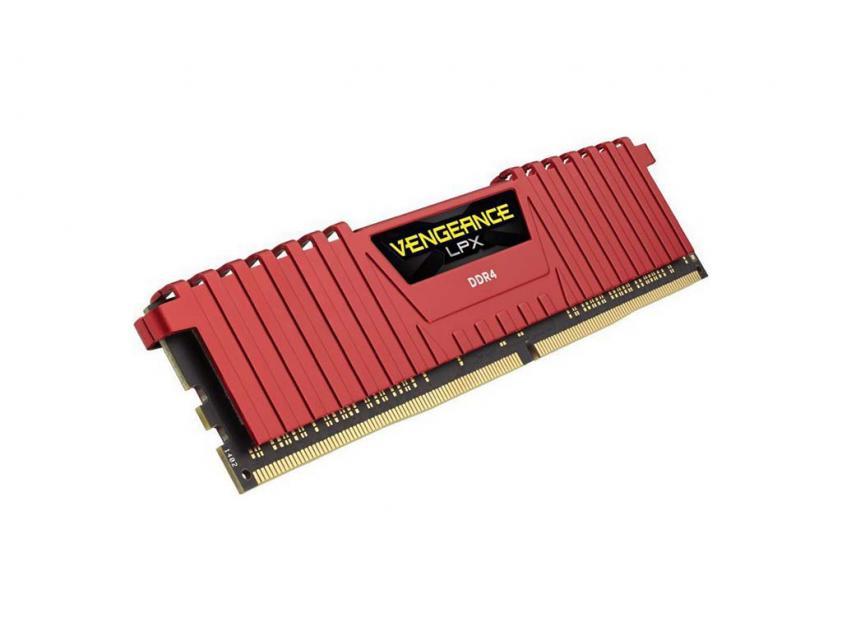 Μνήμη RAM Vengeance Red LPX 8GB (1X8GB) DDR4 2400MHz C14 (CMK8GX4M1A2400C14R)