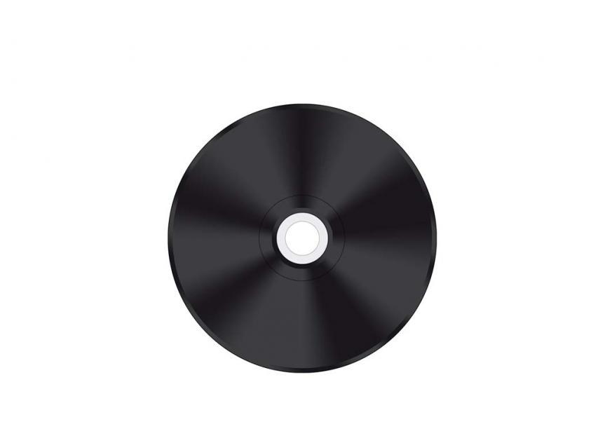 CD-R MediaRange Vinyl 700MB 52x Cake Box x50 Printable Black (MR226)