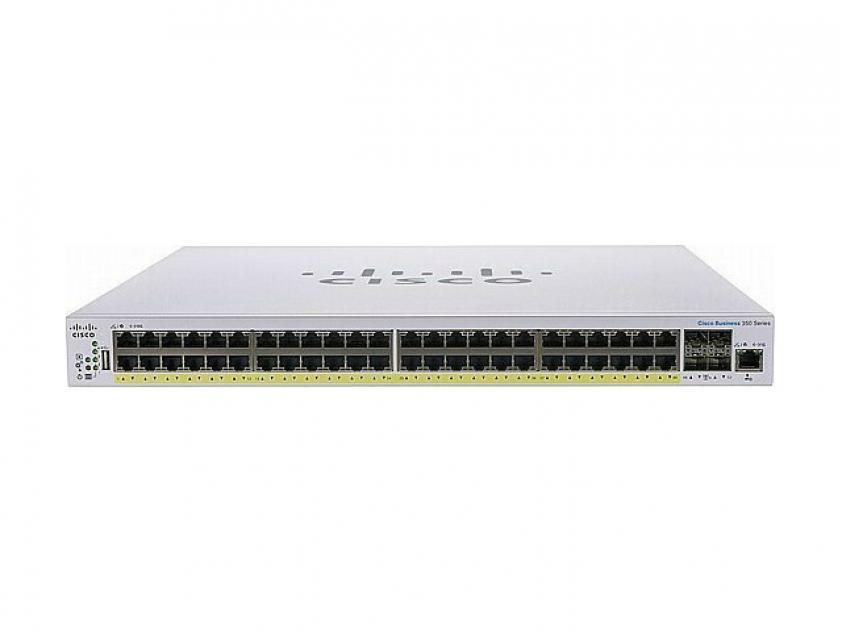 Switch Cisco CBS250 48-Port 10/100/1000 Mbps PoE+ (CBS250-48PP-4G-EU)