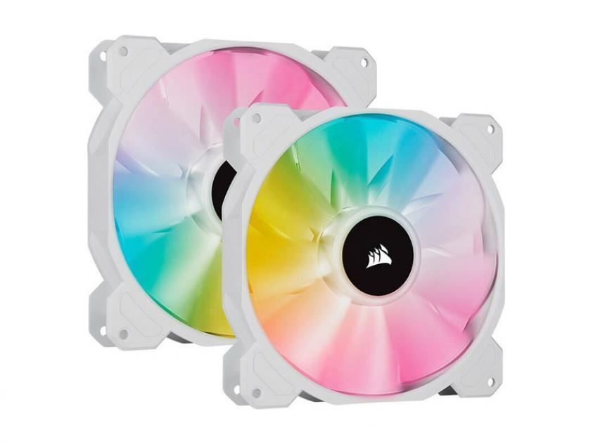 Ανεμιστήρας Corsair iCUE SP140 140mm RGB 2-Pack White (CO-9050139-WW)