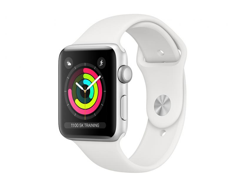 AppleWatch Series3 Aluminium with White Sport Band 42mm Silver (MTF22GK/A)